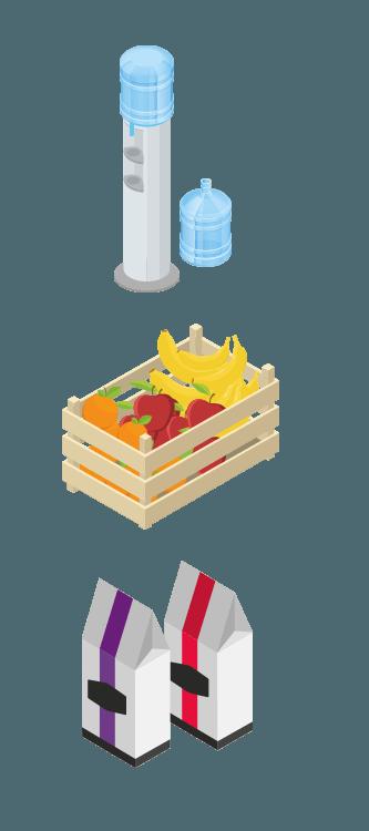 viteau waterkoeler fruit koffie