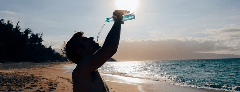 Water drinken in het buitenland