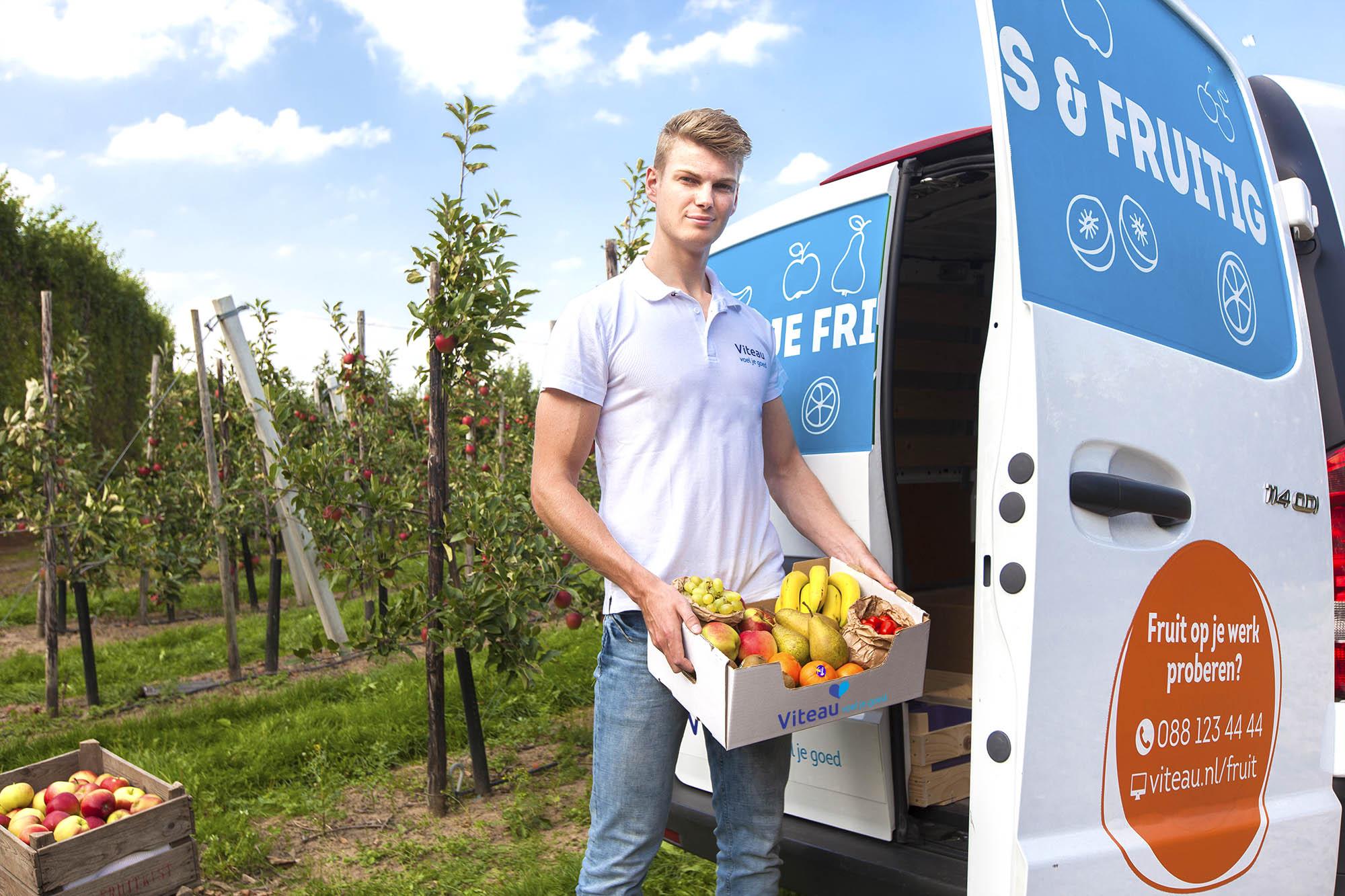 Viteau fruitlevering op het werk