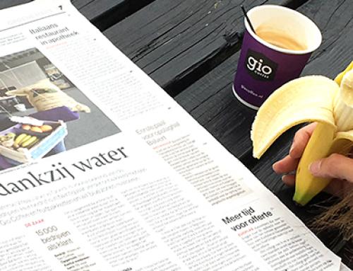 Fitter dankzij water – Viteau & Gio Coffee gespot in de krant